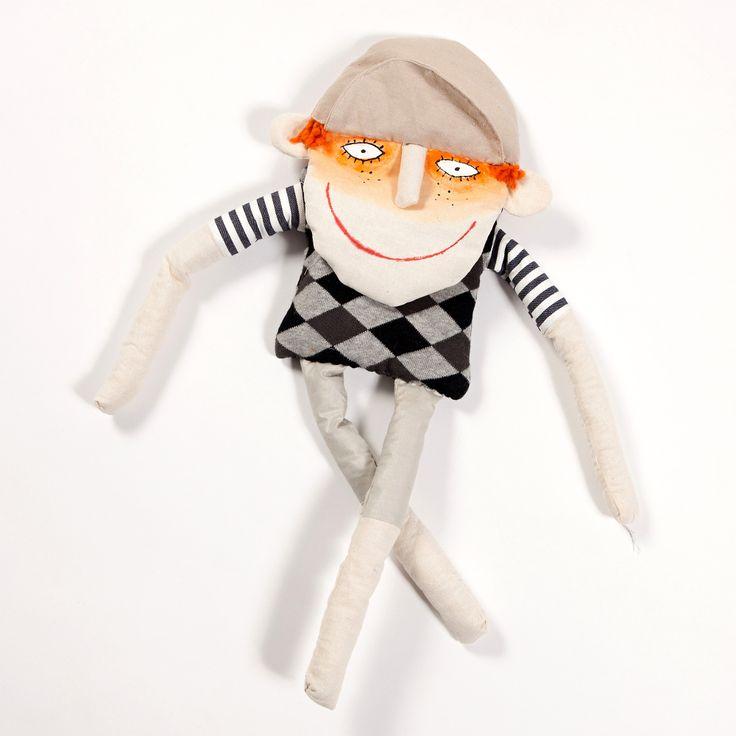 Golfin girl hand sewn doll. Buy it on www.birdiecountry.com