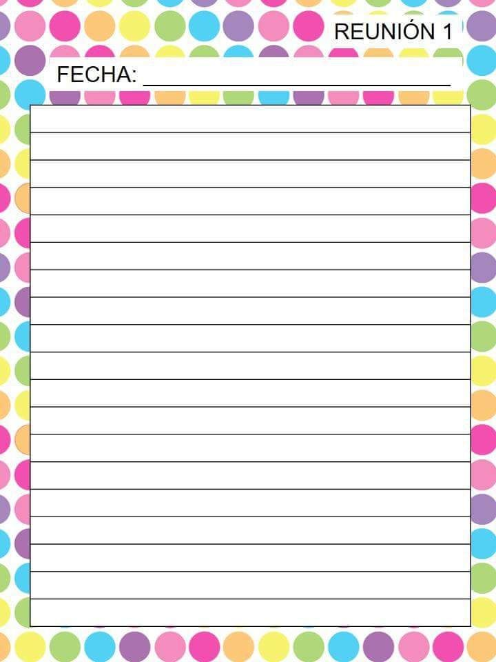 Firmas de padres para cada junta bimestral y extras para acuerdos
