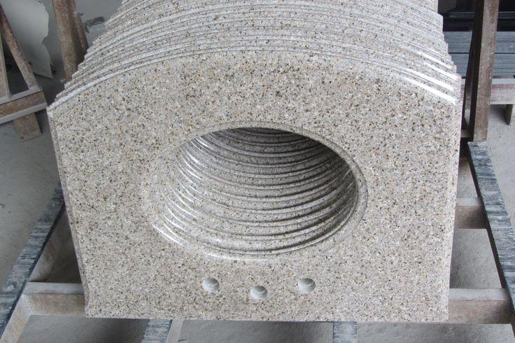 Newstar G682 Vanity Top White Color Natural Stone Granite Slabs For  Countertop