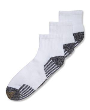Gold Toe Socks, 3-Pack G Tech Sport Outlast Quarter Socks - White 10-13