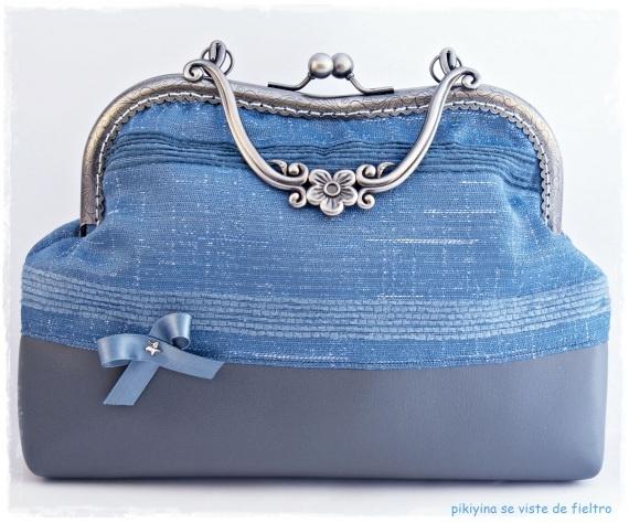 Bolso Blue Retro Chic, Bolsos y carteras, Bolsos, Vintage, Bolsos