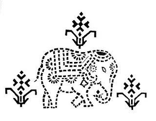 folk art patterns printable | Indian Folk Designs: ~ Folk Designs from West India (2) ~