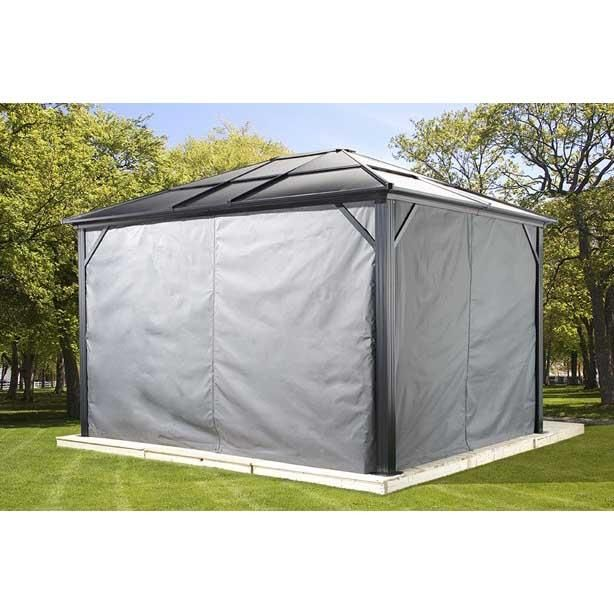Sojag Meridien Hard Top Gazebo Sun Shelter With Mosquito Screen Gazebo Outdoor Gazebos Hardtop Gazebo