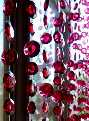 This in pink and clear stones to accent my black pinstripe curtains!!!!
