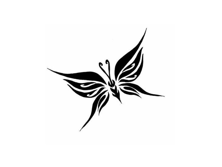 Schmetterling Tattoo Vorlage mit Bedeutung