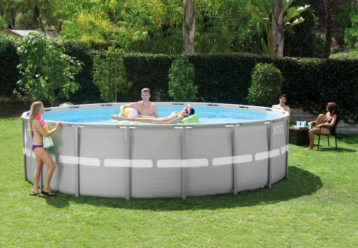 17 best ideas about intex above ground pools on pinterest for Above ground pool surround ideas