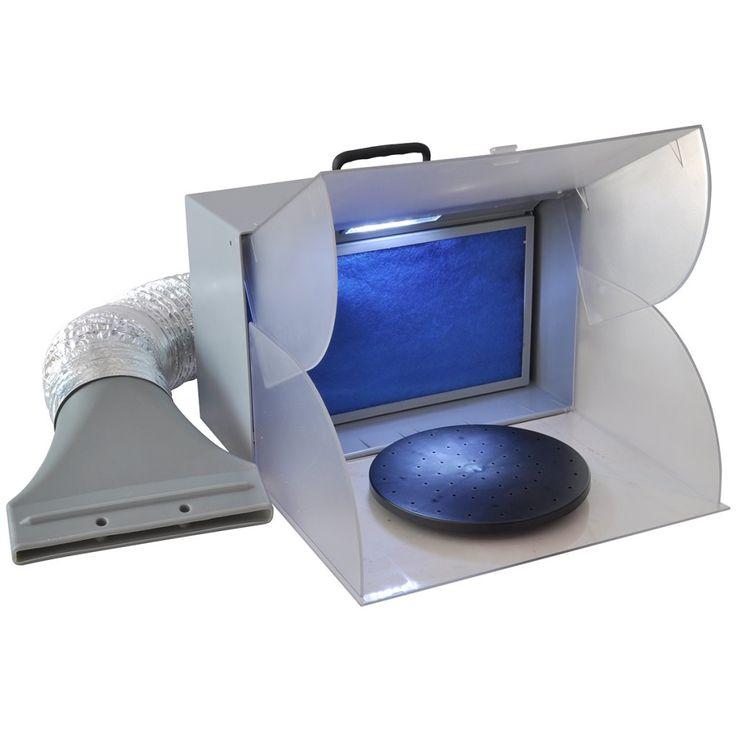 vidaXL Airbrush Sprøyteboks Spray Booth Innebygget vifte med LED - Hus & Hage