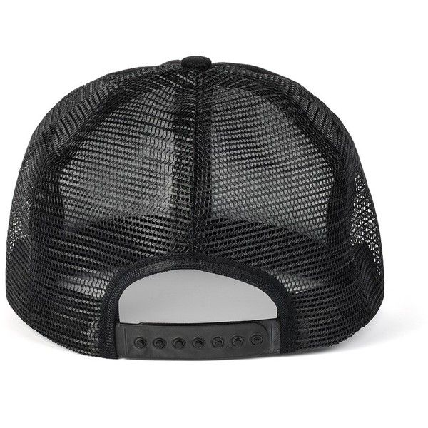 Black Mesh Cap ($20) ❤ liked on Polyvore featuring accessories, hats, caps, snapback, mesh snapback hats, mesh cap, black snapback hats, black snap back hat ve caps hats