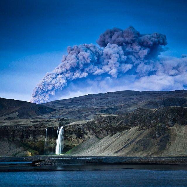 Seljalandsfoss, Volcano in Iceland, by Kristján Freyr Þrastarson