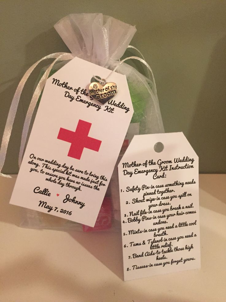 Mother of the Groom survival Kit/Gift. Favors4Love.com