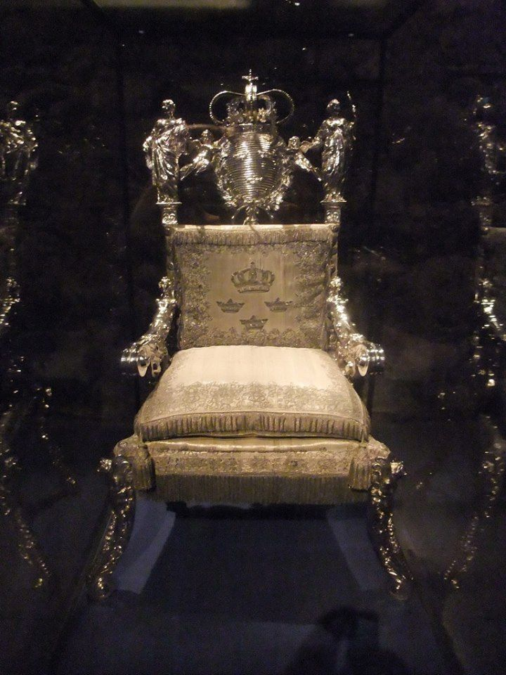 Sweden S Coronation Throne Located In The Hall Of State