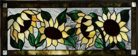Happy Sunflowers by Stubborn Cow Glass