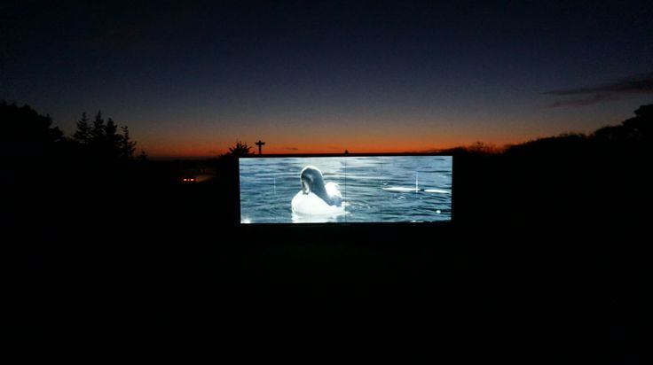 Gold Beach, OR | Pacific Reef Hotel has a theater-size movie screen just yards from the ocean.