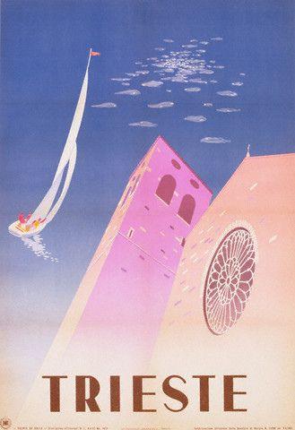 Vintage Italian Posters ~ #illustrator #Italian #posters #vintage ~ 1951 trieste