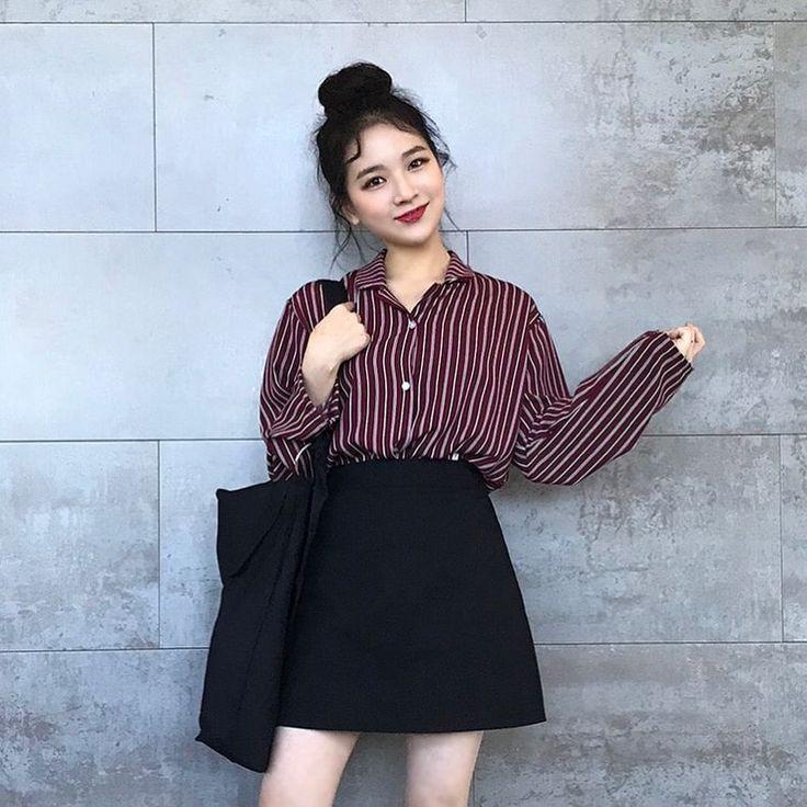Korean Fashion, Korean Girl #emofashion,