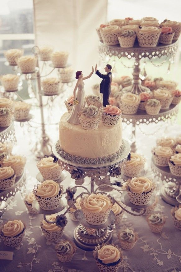 Wedding Topper And Cupcakes #1986016 - Weddbook