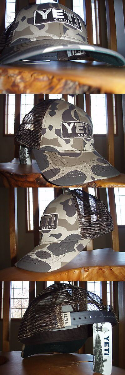 Hats and Headwear 159094: Yeti Coolers Embroidered Patch Camo Trucker Hat BUY IT NOW ONLY: $45.0