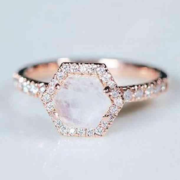 Octagonal diamond cut.