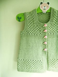 I have made the 18 months size,my gauge is ok, but it fits already on my 6 months old girl, there is place to grow in however, so I will see until when we can wear this vest. I am happy with the re...