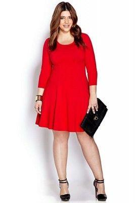 imagenes vestidos rojos para gorditas Más