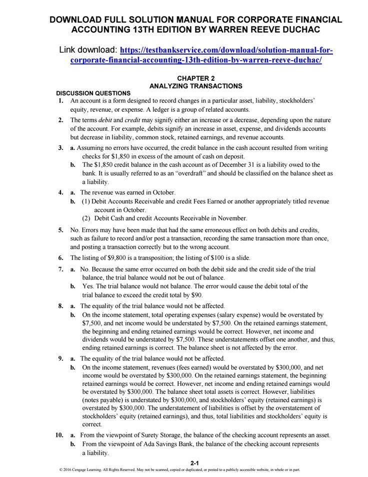 Warren Reeve Duchac Solutions Manual