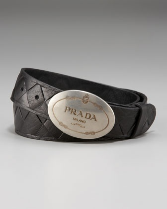 Prada -Quilted Leather Belt