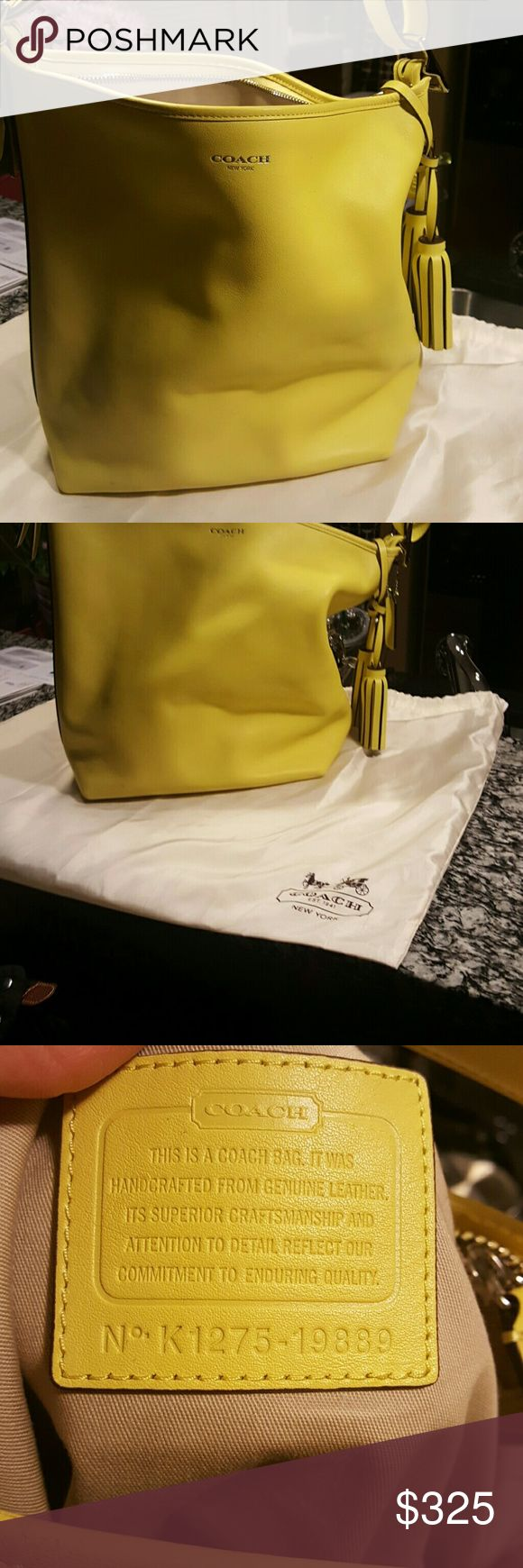 Authentic Coach Purse Yellow Coach Hobo Bag...great for spring. Brand new! Coach Bags Shoulder Bags