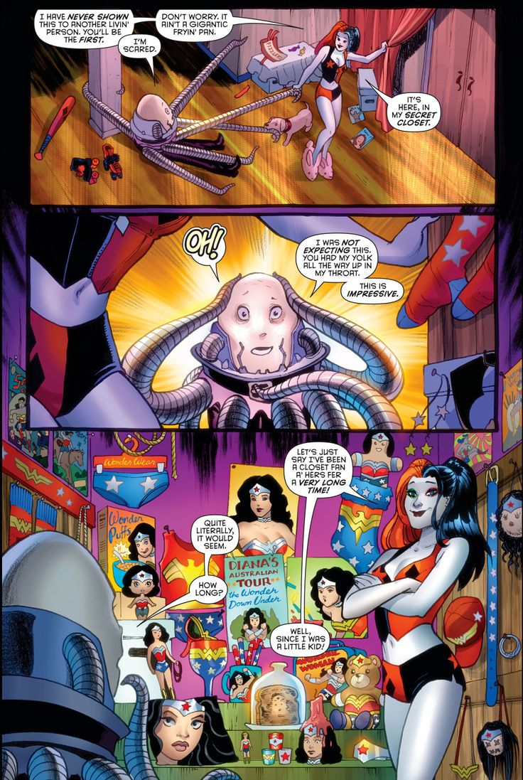 harley quinn is a wonder woman fan --Be your own Whyld Girl with a