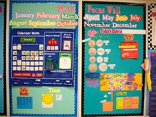 I love this math wall! I will need to adjust it to my kiddos' height, but if I don't have a Promethean board next year, this is a must!
