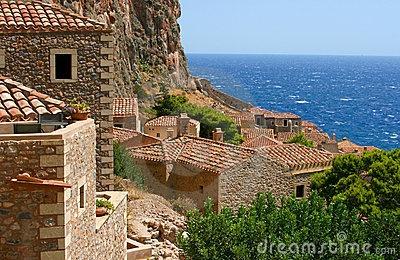 Old house in Monemvasia, Greece by Aleksandrs Kosarevs, via Dreamstime