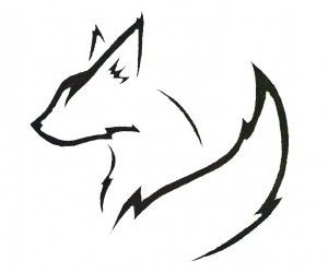 Fox outline for freezer paper stencil project