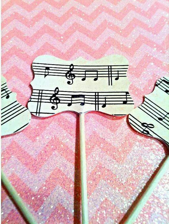 Music Cupcake Toppers Musical Cupcake Toppers by LivinCrafty