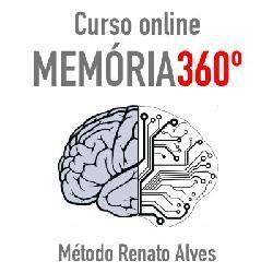 O curso Memória 360 é um produto que reune três cursos individuais do Método Renato Alves: O curso de leitura dinâmica e estudo, FastRead, o curso de Estudo e Memorização e o Curso Foco no Trabalho. O objetivo do treinamento Memória 360 é dar a oportunidade aos clientes do Método Renato Alves fazer os três curso pagando um valor diferenciado.