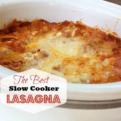 Easy, Speedy, Cheesy Slow-Cooker Lasagna | Spoonful