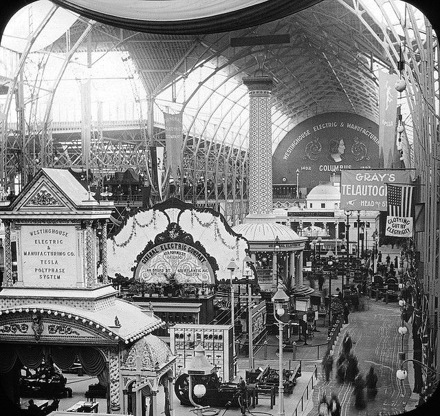 Chicago World's Fair 1893: World's Columbian Exposition, Interior of Electricity Building