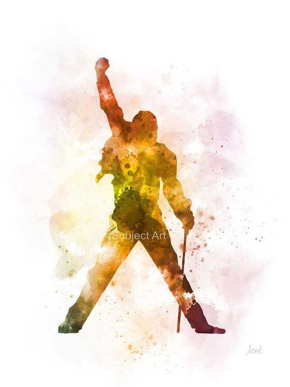 Freddie Mercury ART PRINT illustration, Queen, Music, Iconic, Legend, Home Decor, Wall Art