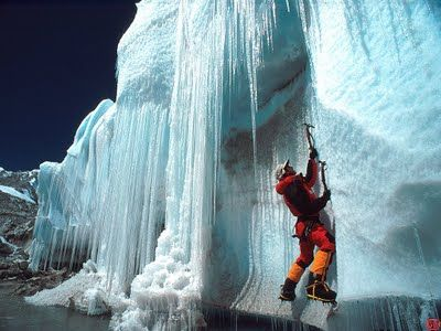 Ice Rock Climbing