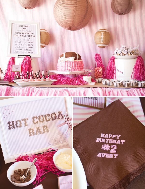 How awesome would this powder puff theme be for a baby shower some day... the answer ... totally frickin' awesome.. at least for me