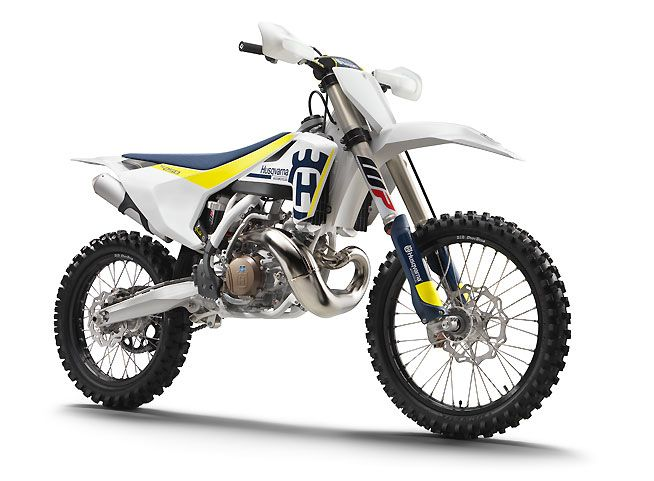 Husqvarna has upgraded its line of 2017 two-stroke and four-stroke models (with the exception of the TC85). The TC 250 two-stroke shown here receives the greatest number of changes, including an all-new engine as well as the new WP AER 48 air fork.