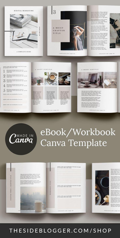 eBookWorkbook Canva Template in 2020 Workbook, Workbook