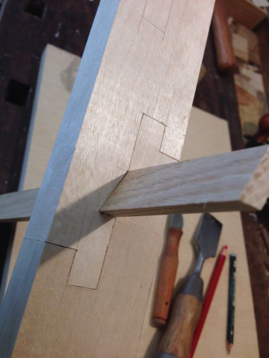 Japanese style scarf joint