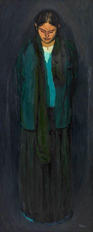 MAKRIS THANASSIS-Girl, oil on canvas, 150x90cm