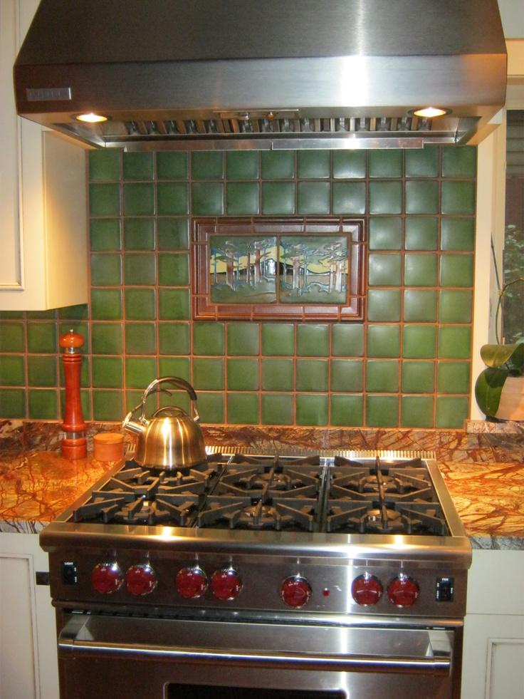 Motawi backsplash tile at Ceramiche Tile and Stone