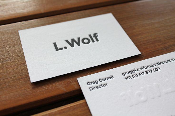 Little Peach - L.Wolf {Letterpress}