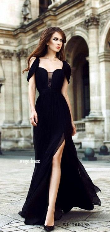 O death long black dress halter