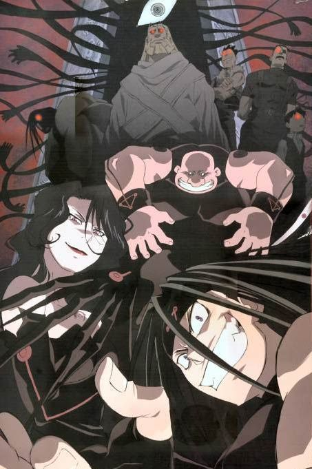 Los homúnculos en full metal alchemist brotherhood ^_^