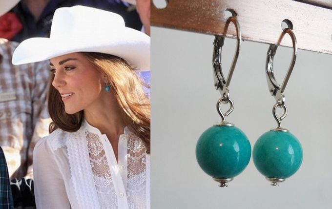kate middleton jewelry turquoise drop earrings