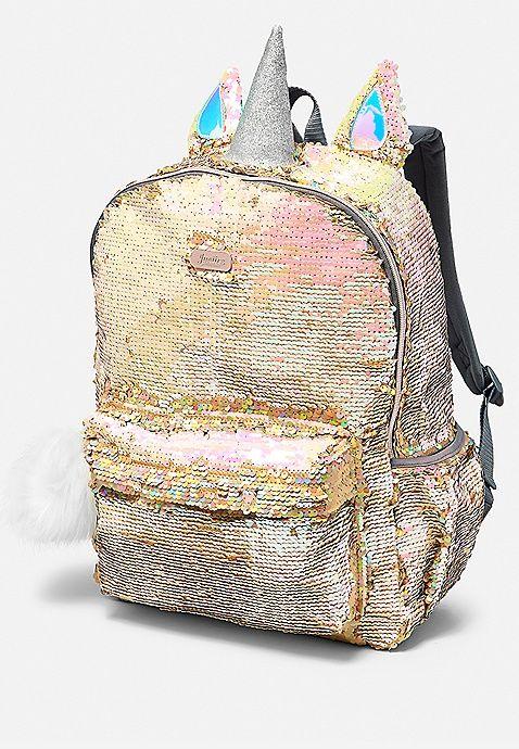 c829134a295 Unicorn Flip Sequin Backpack   Justice   Charlee   Backpacks, Sequin ...