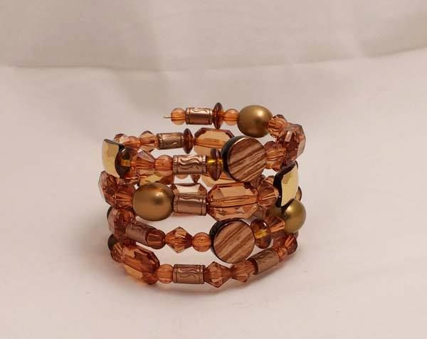 random wrap memory wire bracelet