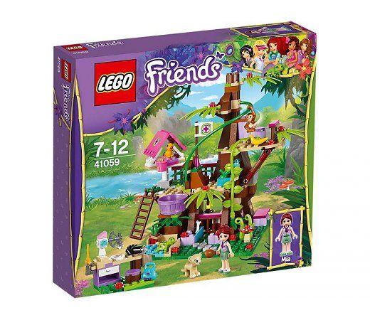 Verzorg de dieren die door de LEGO Friends zijn gered, in het jungle-dierenverblijf. Mia voedert het leeuwenwelpje in de omheining en zorgt dat de papegaai in het vogelhuis genoeg te eten heeft.  http://www.planethappy.nl/lego-friends-jungleboom-schuilplaats-41059.html
